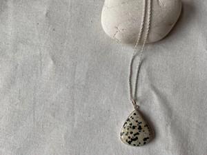 <vintage silver925>dalmatian necklace④