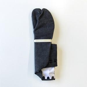 黒デニムストレッチ足袋5枚コハゼ