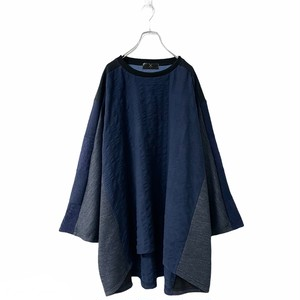 Wide-T-shirts (navy)