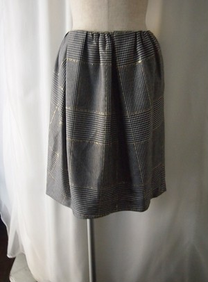 Yangany グレンチェックコクーンスカート
