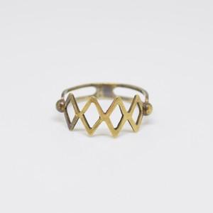 TRUMP RING (DIAMOND・BRASS)