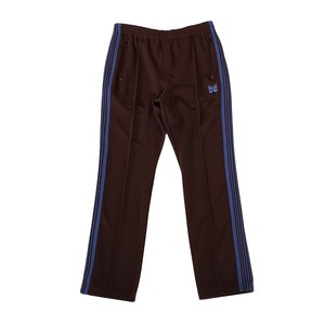 NEEDLES Narrow Track Pants - Poly Smooth Brown
