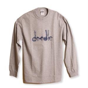 doodle & haptic Long Sleeve Tee / Gray