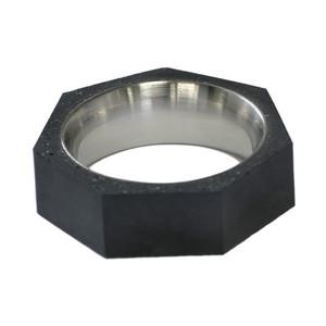 22designstudio Seven Ring THIN (Dark Grey) Dark grey concrete 4719692541260 リング 指輪 #5(9号)