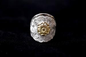 Love 18k rose karakusa wide ring