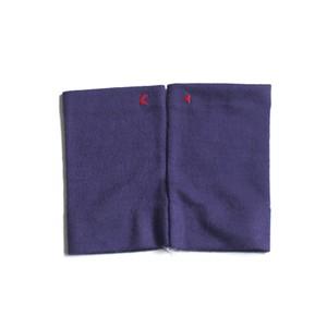 佩 リストマフラー(C/#14 グレープ) ウール100%で手首暖か