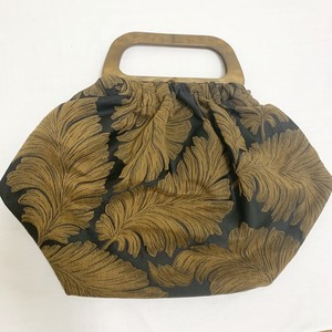 Vintage Jacquard Fabric Hand Bag & Pouch