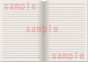ノート見開きのイラスト素材
