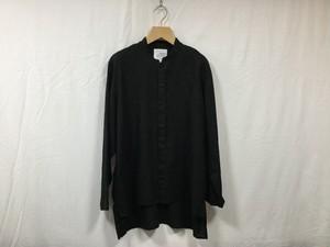 "Men'sAUGUSTE-PRESENTATION Pajama Look""長袖スタンドカラーシャツ BLACK"""