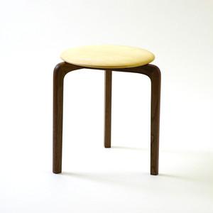 LISCIO スタックスツール(wood) (座面:メープル, 脚:ウォールナット)