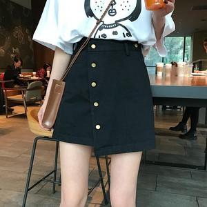 【ボトムス】夏韓国風ins新作不規則ハイウエストスカート