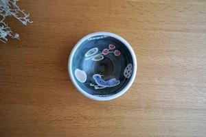 砥部焼/「青い鳥」玉縁鉢/森陶房kaori