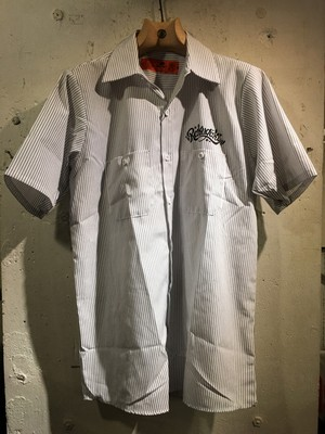 RAKUGAKI Bandana Work Shirts White x Charcoal