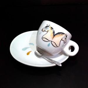 TWIN HORSE ESPRESSO CUP&SAUCER SET
