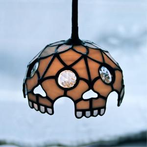 """HAPPO SKULL WHITE"" Stainedglass Pendant Lamp"