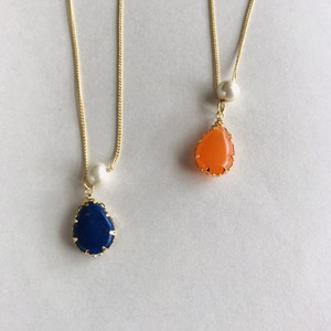 Natural Stone Drop Necklace