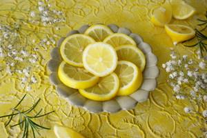 レモネード45サイズ(北欧テキスタイルのような漆喰系黄色写真撮影用の背景のスタイリングボードづくり)