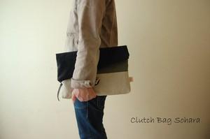倉敷帆布*A4サイズのクラッチバッグ<サハラ>