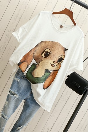 Cool♡オシャレうさぎちゃんカットソー
