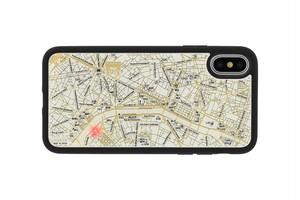 FLASH Paris回路地図 iPhoneXケース 白【東京回路線図ピンズをプレゼント】