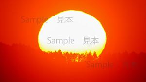写真素材Web用 日の出の太陽
