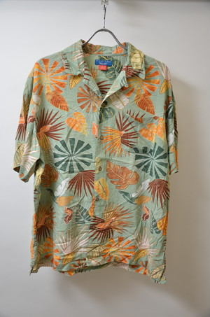 【XLサイズ】 PURITAN ピューリタン ALOHA SHIRTS レーヨン ハワイアン アロハシャツ L.GRN  ライトグリーン 400602190635