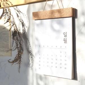 2021 hangul calendar / ハングル 壁掛け カレンダー ウッド ダイアリー 韓国語 韓国雑貨