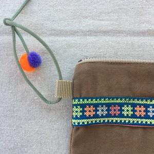 モン族刺繍ミニサコッシュ6
