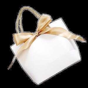 リボン付き紙袋