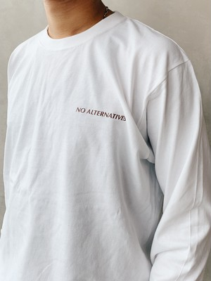 For natural disaster【WHITE】charity Long T shirt 7.4oz 【次回発注日:10/31】