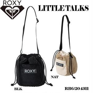 RBG204311 ロキシー 新作 巾着バッグ ショルダーバッグ レディース タウンユース 通勤 通学 旅行 リゾート プレゼント 黒 ブラック ベージュ系 ミニサイズ LITTLE TALKS ROXY