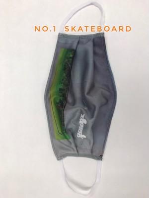 Sk8easy ウォッシャブル抗菌防臭ファッション フォトマスク NO.1 Skateboard
