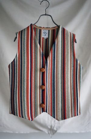 Ortega's - Rainbow Tiny Stripes Chimayo Vest