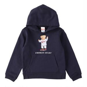 K'rooklyn × 上岡 拓也 Collaboration Kids Hoodie -Navy- (110cm)