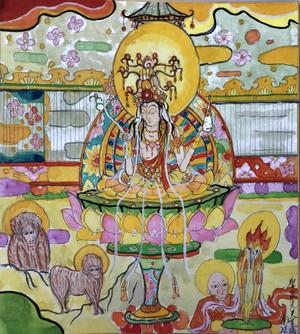聖泉光美菩薩(肉筆画)