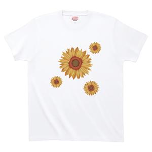ひまわり ハイグレードTシャツ(白)