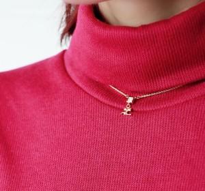 Courrèges rhinestone logo necklace