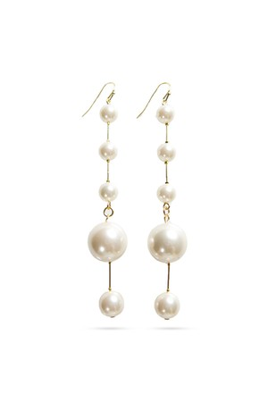 Five Pearl Stick Earrings