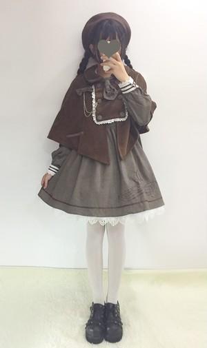 【即納】ゆめかわ探偵さん♡ケープ付きネクタイ付きワンピース