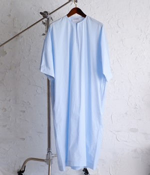HED MAYNER - LONG TUNIC - SS21_S604_BBL/ COT COT - BABY BLUE COTTON