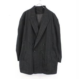 Y's / ワイズ | 2021SS | YOHJIYAMAMOTO C/STRIPE BIG TAILORED ビッグテーラードジャケット | 2 | ブラック | レディース