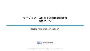 ライブコマースに関する調査/ライブコマースに関する利用実態調査 Bパターン