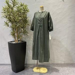 botanical/コットンスナップフレアワンピース
