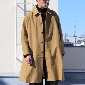 MACKLOWLY Water-Repellent Coating Nylon Taffeta Soutien Collar Coat Camel