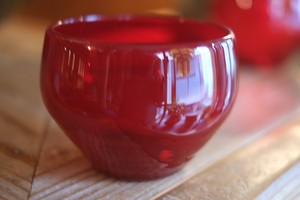 ◆森永豊◆ モリナ透明硝子工房 <吹き硝子>◆◆鉄型鉢◆◆