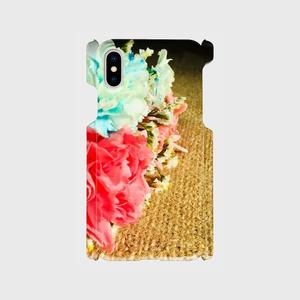 ジュート&フラワー1 プリントiPhoneカバー