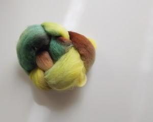 手染め羊毛 ロムニー  約30g 0301