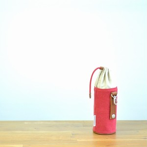 CANVAS PETBOTTLE HOLDER / RED