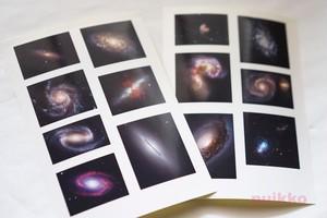 耐水シール(レジン用) 銀河