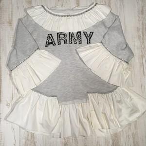 5dime ARMYスウェットシャツ×シャツ